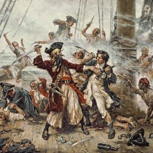 Capture of Blackbeard capità misson defoe