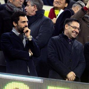 Josep Maria Bartomeu Delfí Geli Roger Torrent Camp Nou Barça Girona Efe