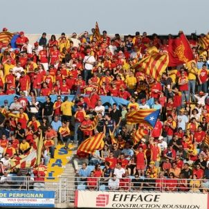 Perpignan rugby catalan flags