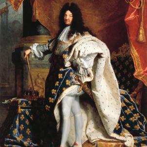 Lluis XIV de França (1701). Le Roi Soleil. Retrat coetani de Jacint Rigau. Font Musée du Louvre. Paris