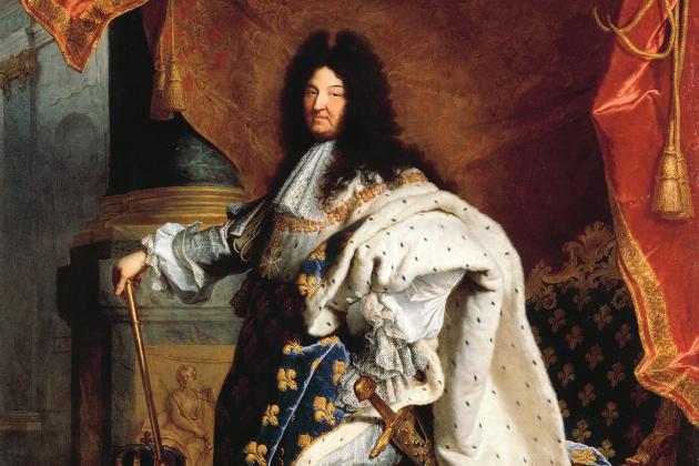 Lluis XIV de Francia (1701). Le Roi Soleil. Retrato coetáneo de Jacint Rigau. Font Musée lleva Louvre. Paris
