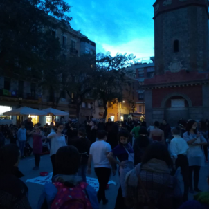vaga feminista prèvia 8-M / Moviment Popular de Gràcia