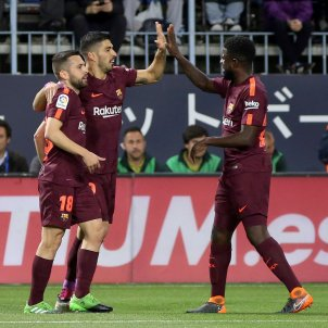 Luis Suárez Jordi Alba Umtiti Màlaga Barça Efe