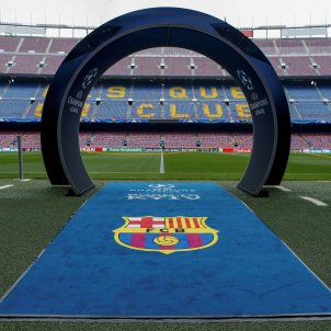 Camp Nou Champions escut Barça   EFE