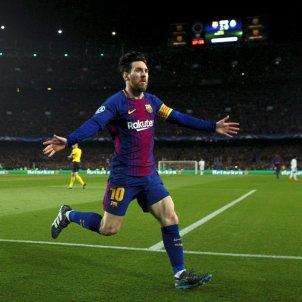 Leo Messi celebració gol Barça Chelsea Champions   EFE