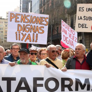 Manifestació Barcelona pensionistes / ACN