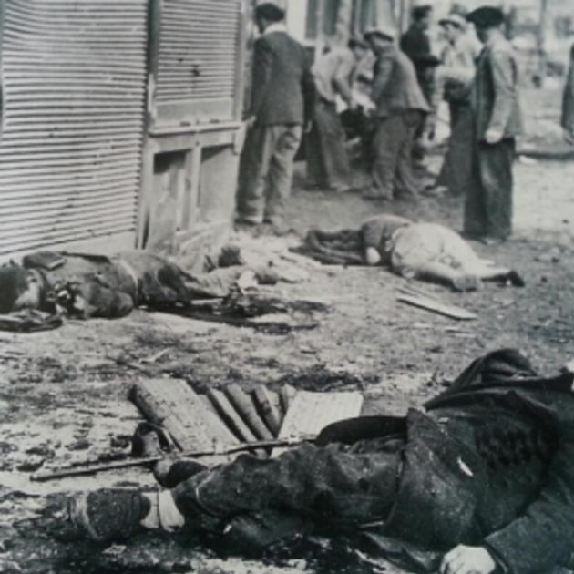 Victimes bombardeig Barcelona 16,17,18 03 1938. Font Arxiu d'El Nacional