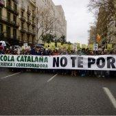 L'escola catalana es manifesta per la immersió