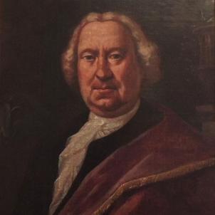 Neix Antoni Viladomat, el millor pintor catalą del XVIII. Retrat obra del seu deixeble Jaume Salvador. Font Ajuntament de Mataró