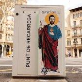 Sant Leo Messi grafiti Barcelona Sergi Alcázar