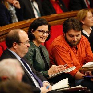 miquel iceta eva granados ferran pedret parlament - sergi alcazar