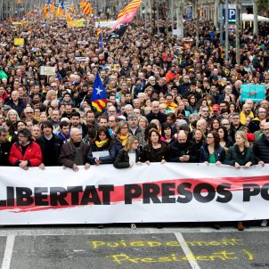 manifestacio barcelona puigdemont detingut alemanya 25 03 2018 2 EFE