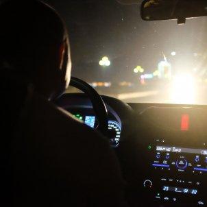 Cotxe interior nit