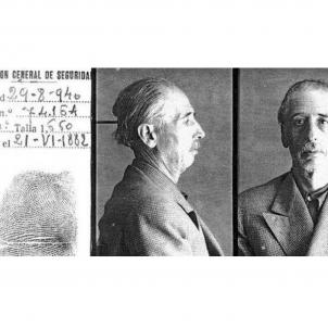 Fitxa de detenció del President Companys. Dirección General de Seguridad (1940). Font Arxiu d'El Nacional