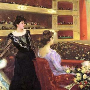 S'inaugura el Gran Teatre del Liceu. Pintura de Ramon Casas. Font Viquipèdia