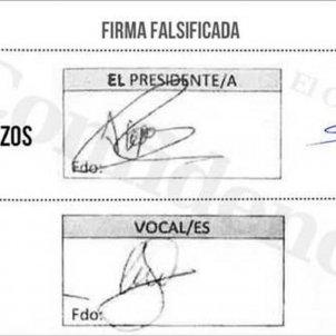 firmes falses HQ / El Confidencial
