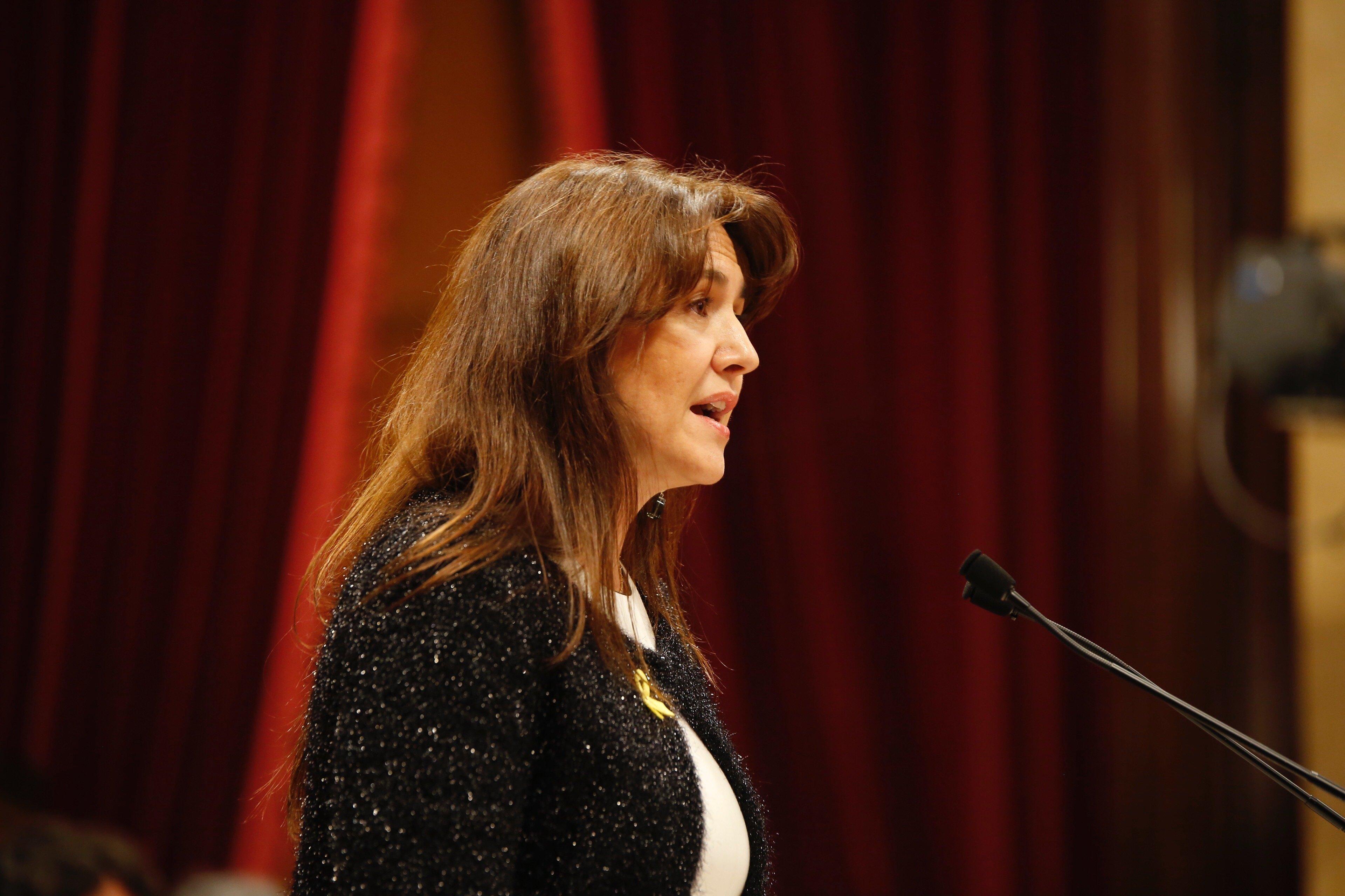 Laura Borràs ple Parlament Sergi Alcàzar