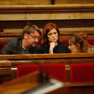 Domènech, Alamany, Albiach ple Parlament Sergi Alcàzar