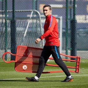 Ernesto Valverde entrenament Barça   EFE