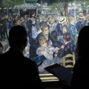 BAL DU MOULIN DE LA GALETTE. Renoir entre dones