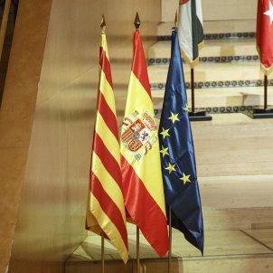 Banderes catalunya espanya europa - Sergi Alcàzar