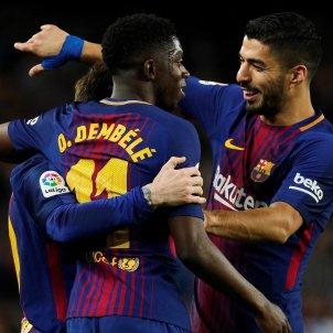 Barça Leganés Pinya gol Dembélé Messi Suarez   EFE