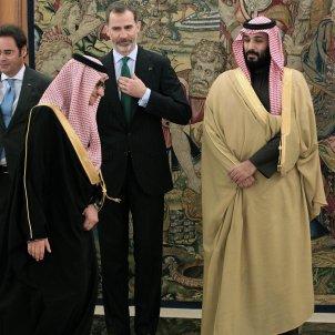 Mohamed bin Salmán i Felip VI efe
