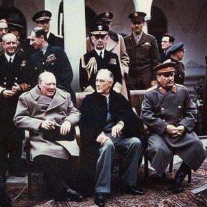 Churchill, Roosevelt i Stalin a la conferència de Jalta Wikipèdia