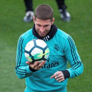 Sergio Ramos entrenament Madrid   EFE