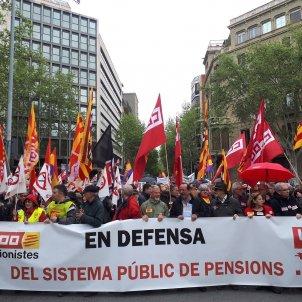 Manifestació pensionistes - Europa press