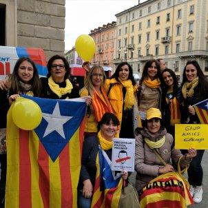 manifestació catalans Milà
