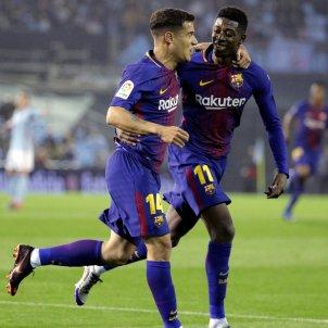 Coutinho Dembele Celta Barça EFE