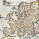 Test 7. Mapa polític d'Europa (1650). Taller de cartografia de Jan Blaeu (Amsterdam). Font Arxiu d'El Nacional