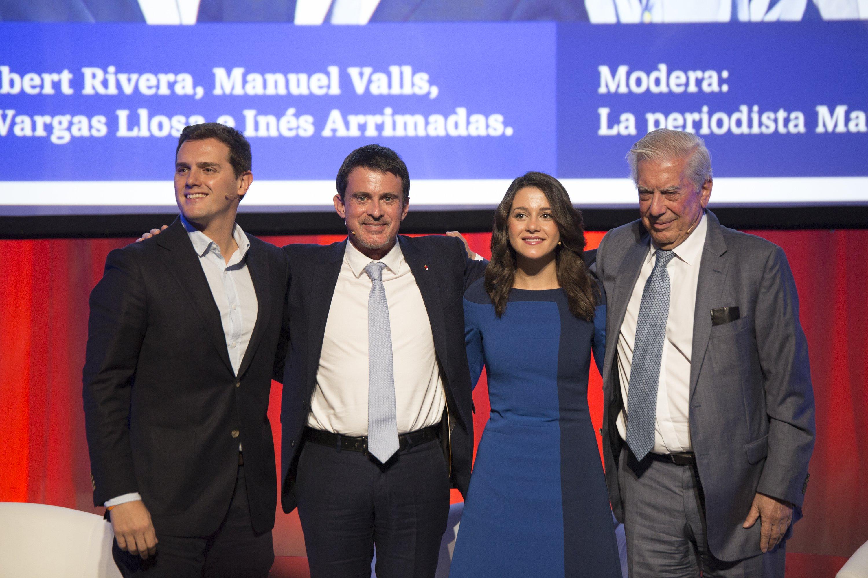 Ciutadans Albert Rivera Ines Arrimadas Mario Vargas Llosa Manuel Valls - Sergi Alcàzar