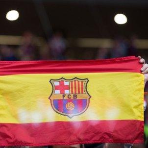 Bandera Espanya escut Barça Efe