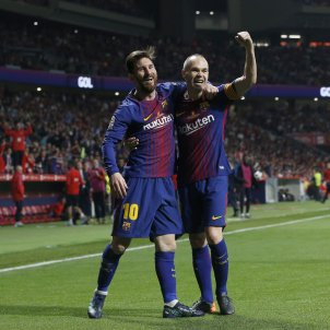 Messi Iniesta Barça EFE