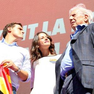 Arrimadas, Rivera i Vargas Llosa ACN
