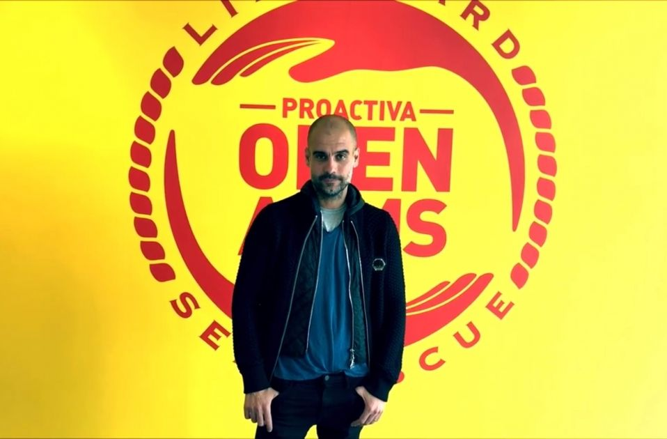 Pep Guardiola Proactiva Open Arms Captura pantalla