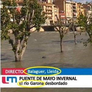 pifia TVE sobre riu Garona i Segre / EN