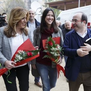 Susana Diaz Parlon Iceta PSC PSOE   Sergi Alcazar