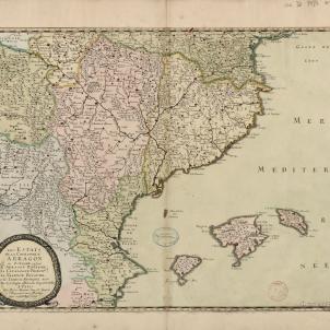 Test 9. Mapa francès dels estats occidentals de la Corona d'Aragó (1653). Font Bibliothèque National de France