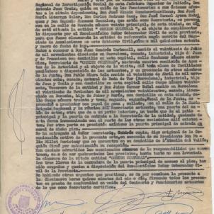 Segona acta de clausura de la seu d'Omnium. Font Arxiu Laura Cendrós