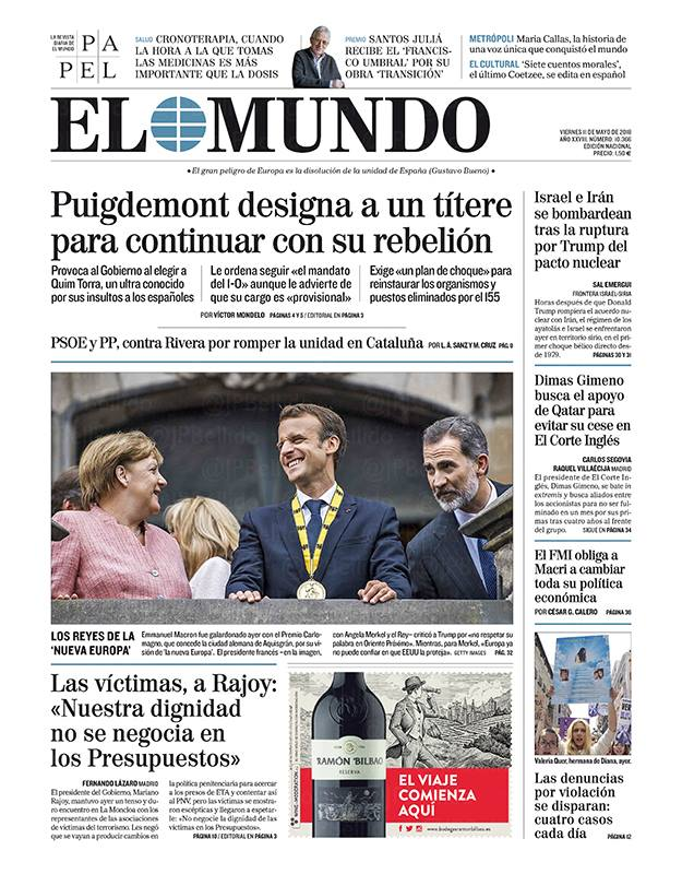 In another article, El Mundo defines Torra as the
