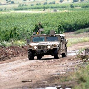 Patrulla israel en frontera con Siria EFE