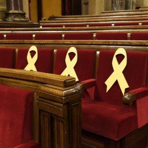 llacos grocs ple parlament laura gomez