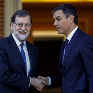Pedro Sánchez y Mariano Rajoy, en Moncloa / Efe