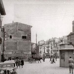 El regim franquista prohibeix la retolació en català a les Balears. Palma de Mallorca. Anys 40 segle XX. Font Fotos Antigues de Mallorca