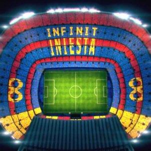 Mosaic Andres Iniesta Camp Nou Barça   Barça