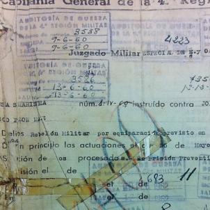 Fets del Palau,  condemnen els promotors per rebel·lió. 19 05 1960. Sumari del judici. Font CCMA