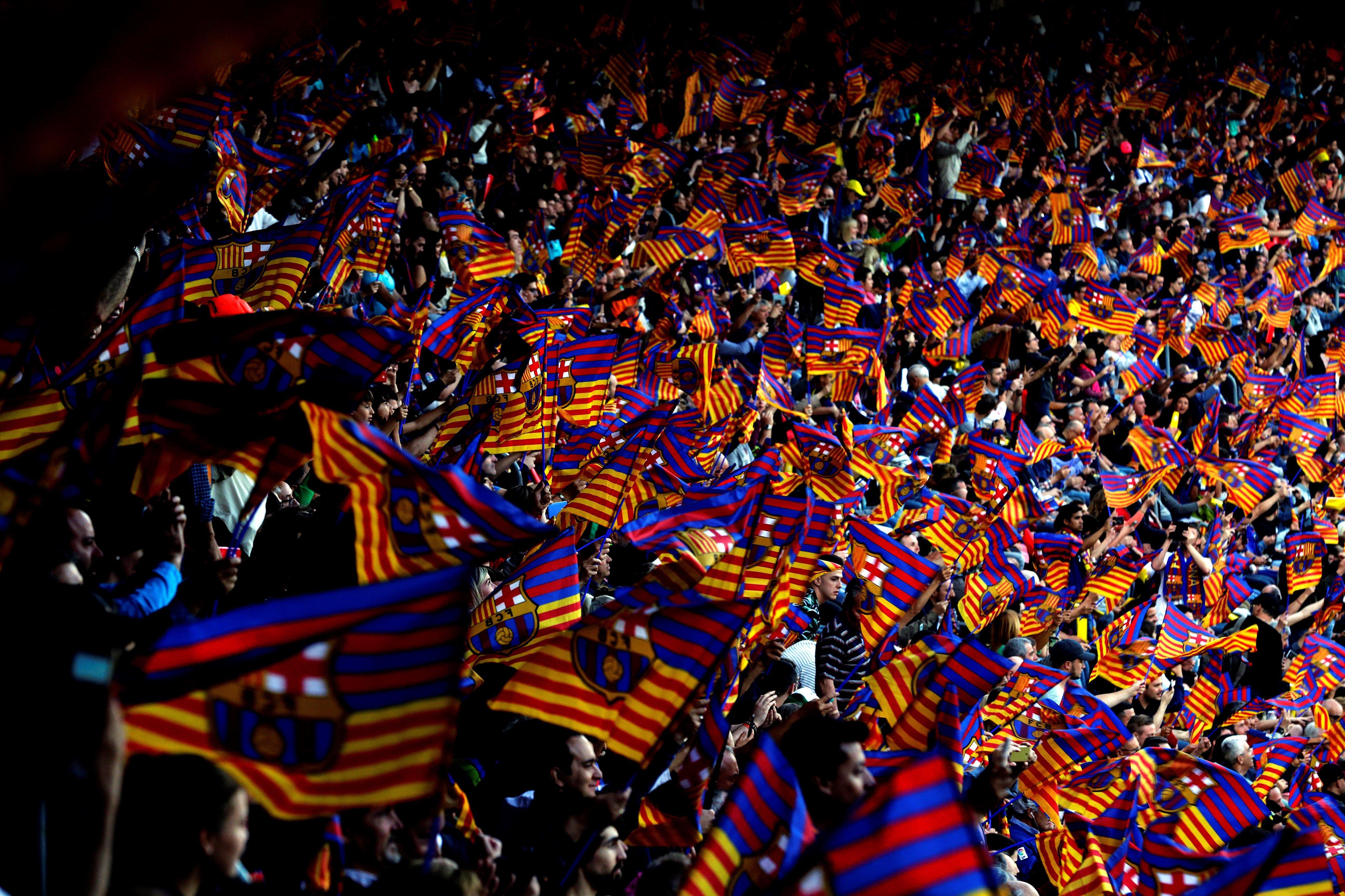 Camp Nou Banderes Barça Reial Societat EFE